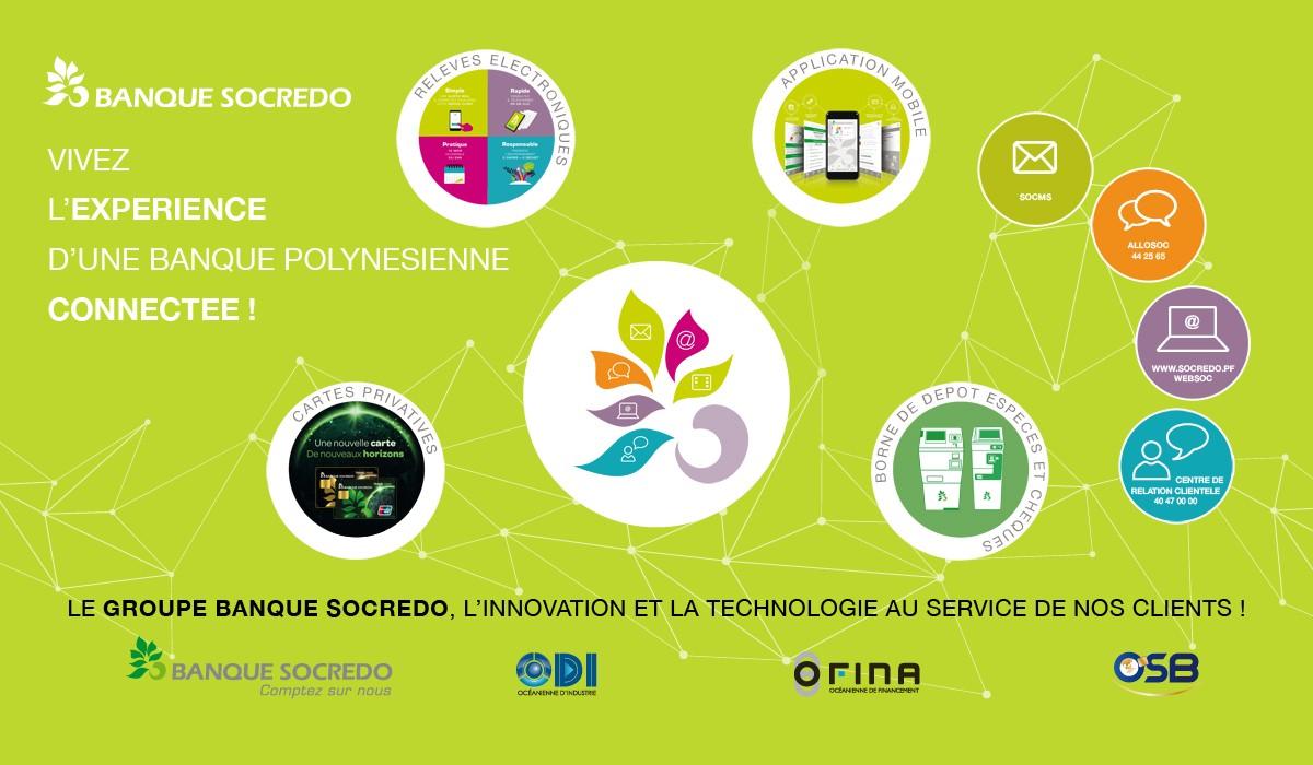 Partenaire du Digital Festival Tahiti - Tech4Islands : le groupe SOCREDO