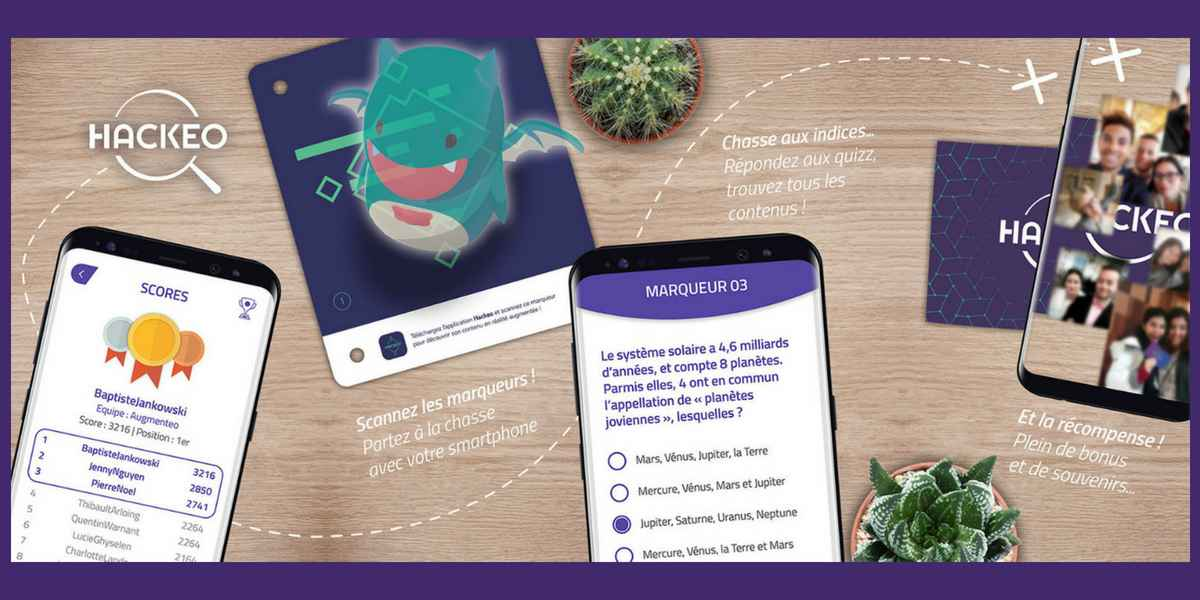 Our exhibitors at the Digital Festival Tahiti 2018: Augmenteo - Augmented reality