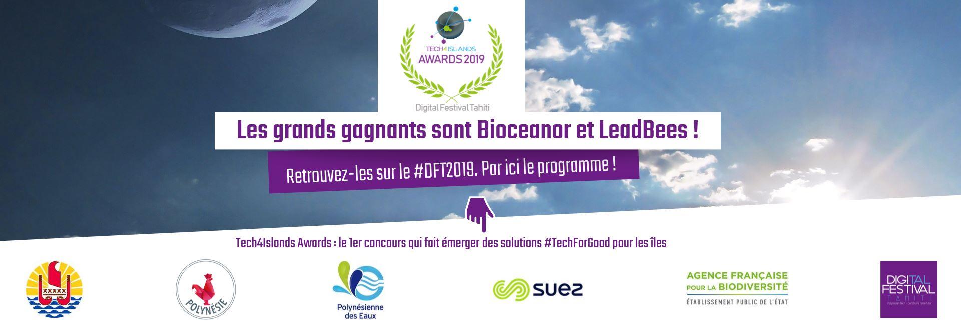Bioceanor et la startup polynésienne LeadBees, lauréats du concours international Tech4Islands Awards organisé par le Digital Festival Tahiti