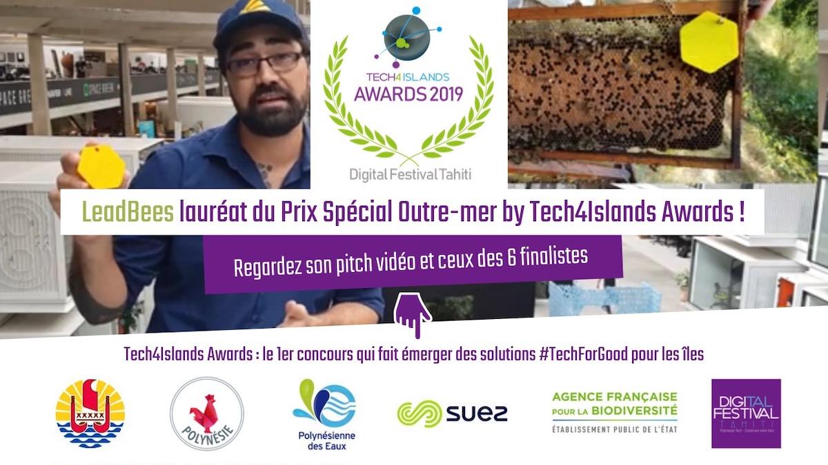 LeadBees, Lauréat du Prix Spécial Outre-mer 2019 by Tech4Islands Awards