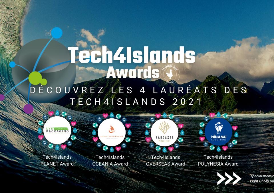 Bannière Lauréats Tech4Islands 2021